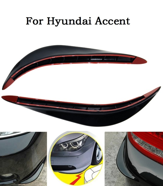 Car Accessories Black/white/silver/2Pcs ABS Front + Rear Bumper ...
