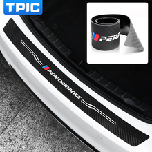 Для BMW e90 e92 e46 f20 f30 F15 e70 e71 g30 M производительность заднего бампера накладка наклейка ПВХ мягкая резина багажник автомобиля защитная пластина полоса
