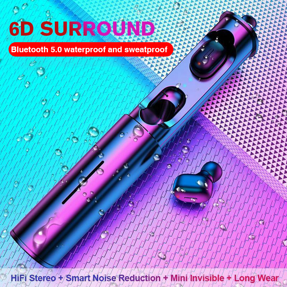 Mini Wireless Earphones TWS V5.0 Stereo Earbud Cordless Handsfree Headset For Phone Portable Earbud Earphone In Ear