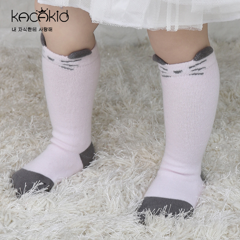 Kacakid Lovely Baby Socks Kids Boys Girls Non-slip sock Children Cotton cute Animal long ...