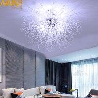 NANS современный Имитация Хрустальный акриловый светодиодный потолочный светильник ресторан KTV прохода гостиная балкон лампа для украшения
