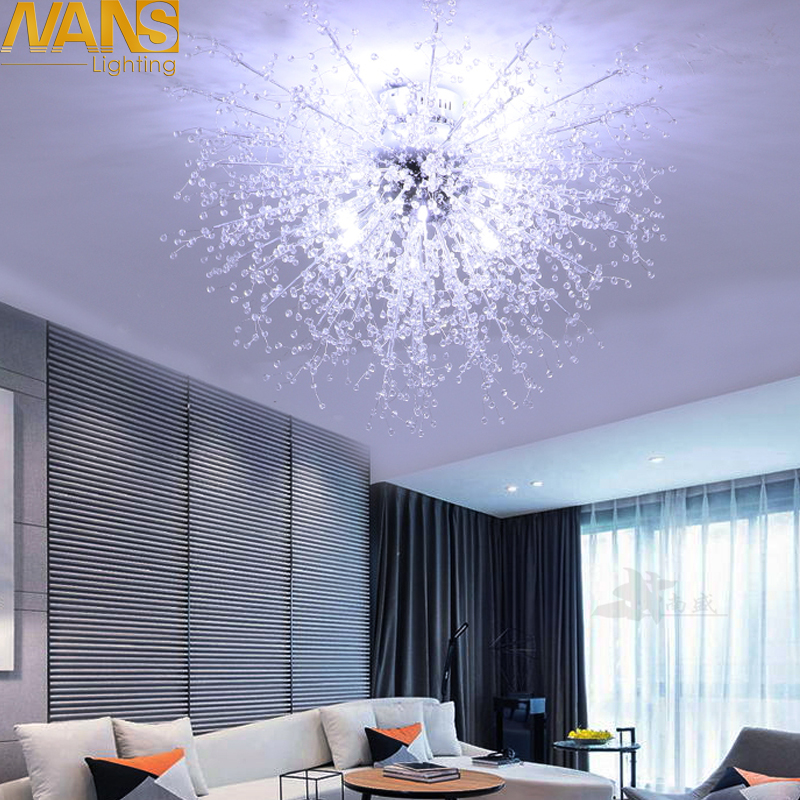 NANS  Modern  Imitation Crystal Acrylic Led Ceiling Lights Restaurant Ktv Aisle Living Room Balcony Lamp  For Home Decoration