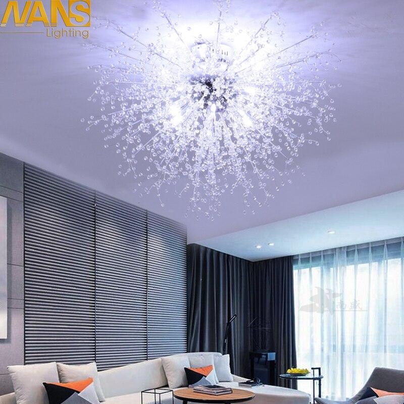 NANS Moderna Imitação De acrílico cristal Led luzes de teto restaurante ktv corredor sala de estar varanda lâmpada para decoração de casa