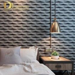 Геометрический узор Мода 3D решетки стены Бумага сетка абстрактная ПВХ обои Ресторан Парикмахерская украшения