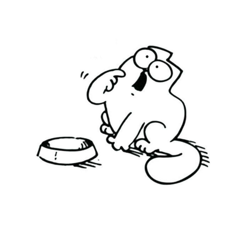 15.7*12.6 см Новый Кот Саймона Автомобильный Чехол Скреста декоративные наклейки смешные мода мотоцикл автомобиль аксессуары С6-0310