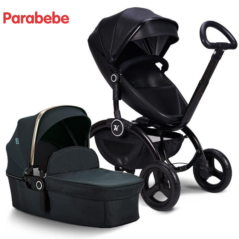 luxury baby stroller 3 in 1 New design bidirectional stroller high Landscape Portable pram russian wholesale new luxury baby stroller 3 in 1 high landscape three dimensional four round baby stroller carts strollers