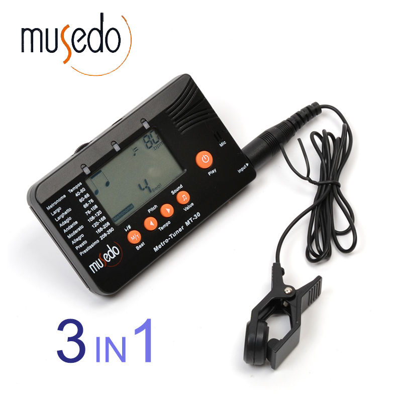 musedo mt 30 metro tuner 3 in 1 tuner metronome tone generator for guitar bass ukulele. Black Bedroom Furniture Sets. Home Design Ideas