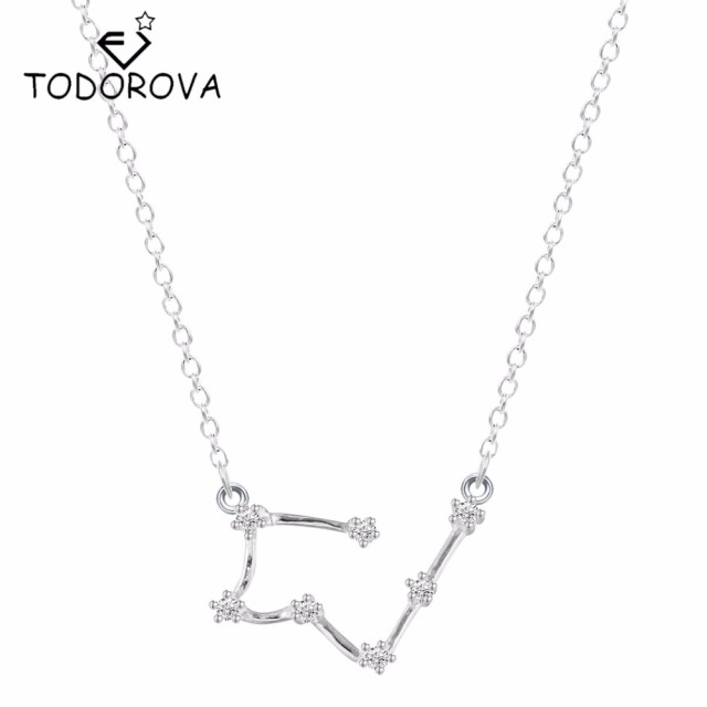 constellation era galaxy gift crystal zircon zodiac qiuge girl horoscope astrology necklace pendant women products jewelry star