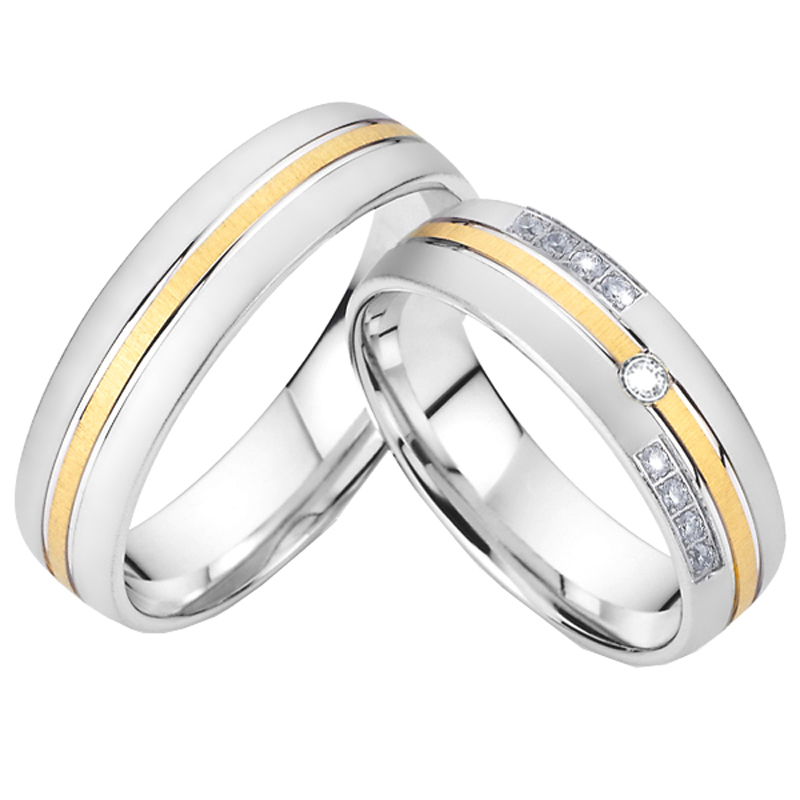 Top Quality Wedding Bands Rings For Couples Men And Women Lovers Alliance Titanium Jewelry Ring Anniversary Velentine Gift 2021