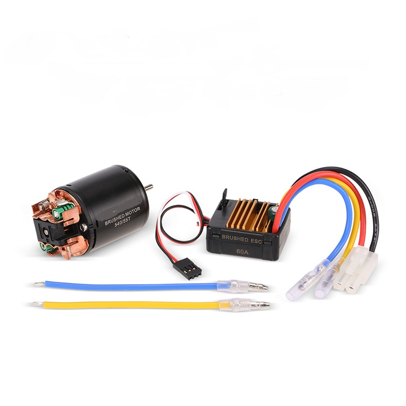 New RC Cars Motor 540 55T Brushed Motor with 60A ESC Combo RC Parts for 1:10 Axial SCX10 RC4WD D90 RC Crawler Climbing Car Part динамик широкополосный fostex ff165wk 1 шт