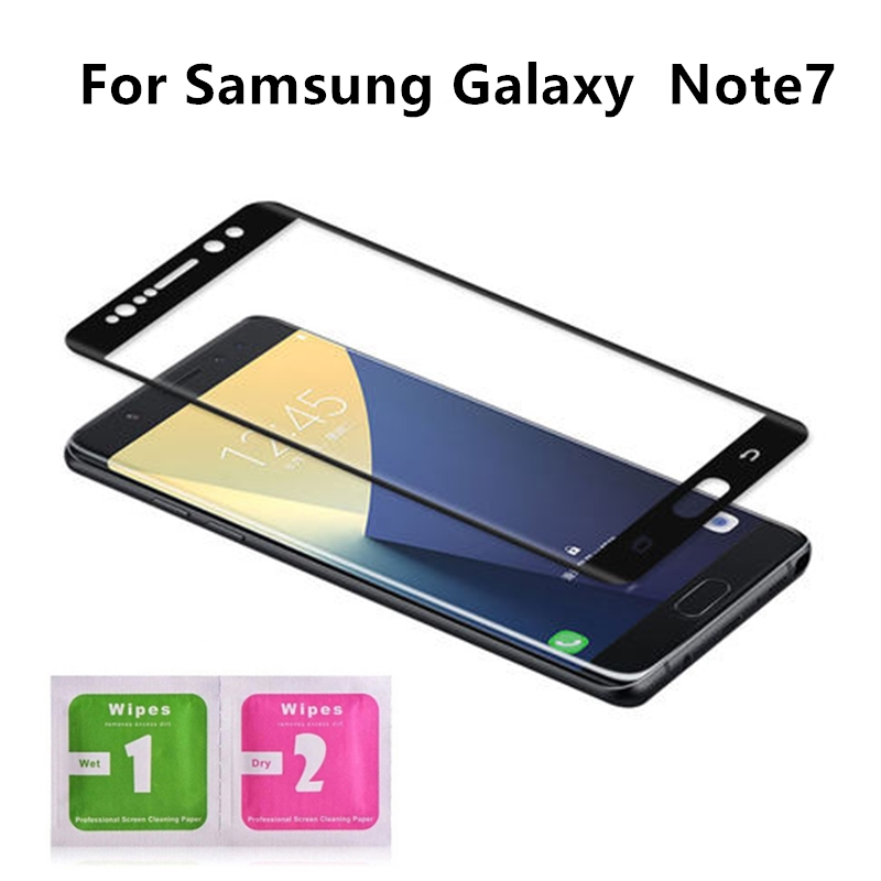 1Pcs For Samsung Galaxy  Note7 5.7'' 3D Coverage Tempered Glass Screen Protector For Samsung Galaxy Note 7