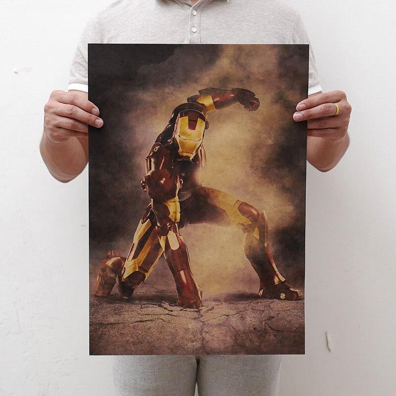 Mling 1 шт., 51,5x36 см, постер из серии Marvel, Мстители, война бесконечности, Ретро плакат, наклейки на стену для гостиной, украшение для дома - Цвет: H11