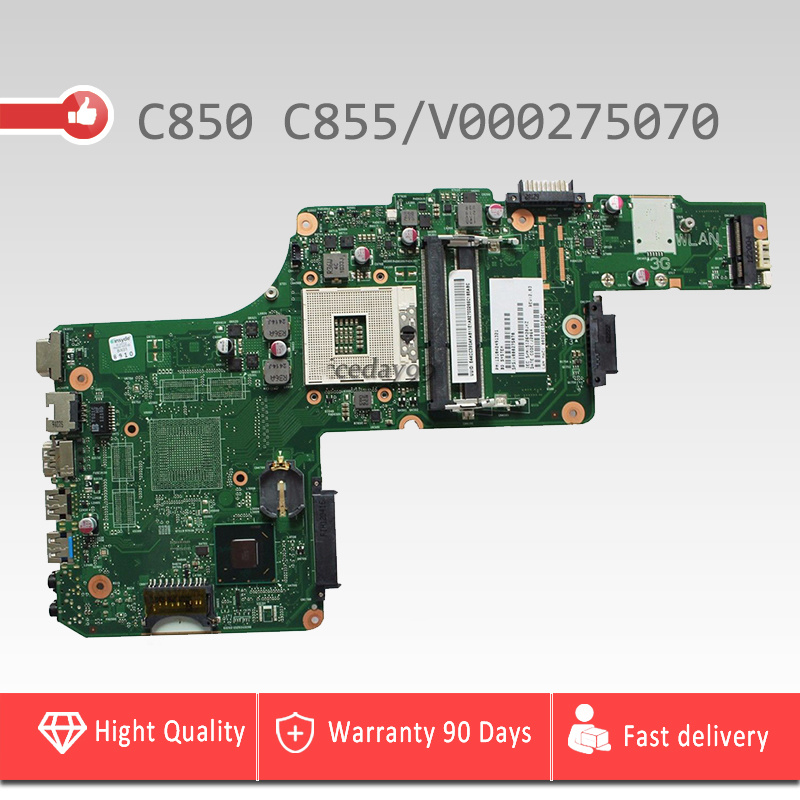 цена YTAI C850 C855 for Toshiba Satellite C850 C855 Motherboard 6050A2491301-MB-A02 V000275070 HM76 USB3.0 Mainboard 100% tested