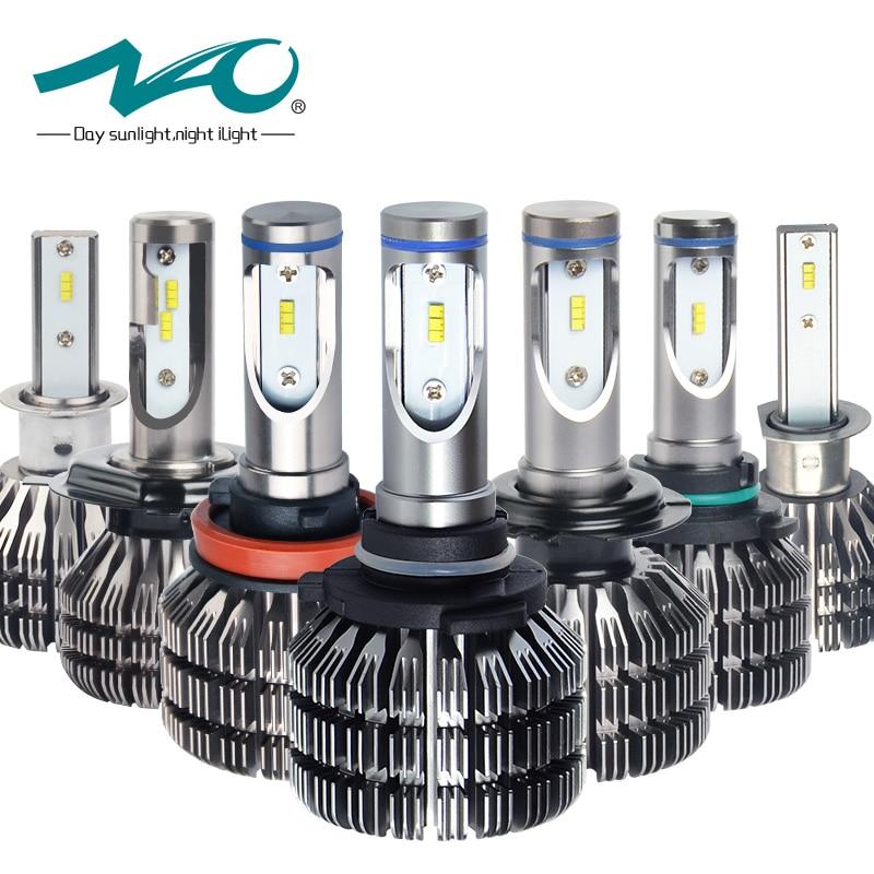 NAO H7 led h11 bulb h4 car styling headlights h1 automobiles lights hb4 9006 h8 h9 hb3 9005 auto Bulb Headlamp 12V 24V 6000K V5 h7 led h4 h1 h3 h11 9005 9006 hb4 72w 16000lm car headlights front fog light bulb automobiles headlamp 6000k car lighting