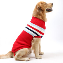 New Autumn/winter Wool Pet Dog Sweaters Leisure Style Classic Argyle Knit Sweater for Clothes with 5 Color