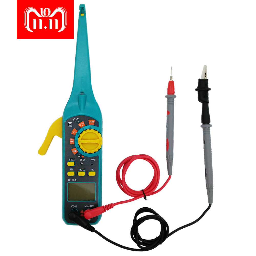 PROTMEX 86A Multifunction LCD Display Automotive Vehicle Circuit Tester AC/DC 12V/24V Voltage Signal Tester With Resistor Diode недорго, оригинальная цена