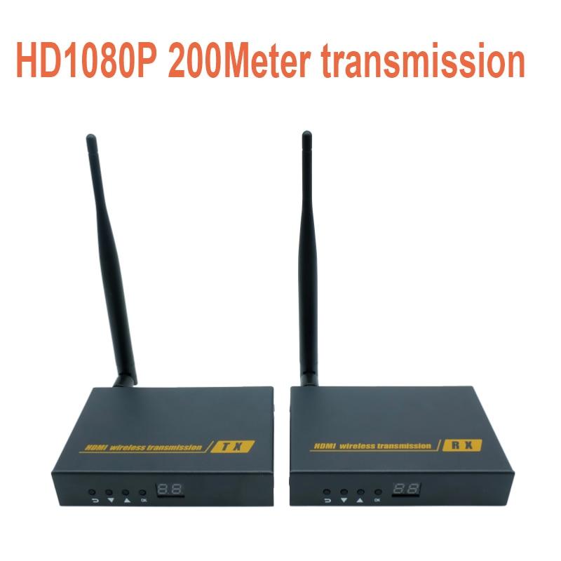 Wireless AV HDMI HDbitT Transmitter and Receiver Kit 656Ft 200M Super long range Wireless Extender 1080P
