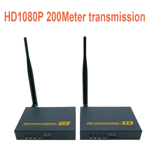 Wireless AV HDMI HDbitT Transmitter and Receiver Kit / 656Ft /200M Super long range Wireless Extender 1080P transceiver (Tx&Rx)