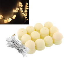 35 Aladin LED Romantic Cotton Ball Creative String Light Ivory White Party Patio Tree Decor Decoration