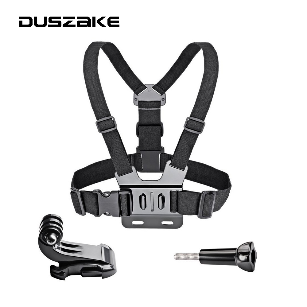 Chest Strap mount for Gopro hero 5 4 Xiaomi yi 4K Action camera Chest Mount Harness for Go Pro SJCAM SJ4000 sport camera shoot aluminum alloy thumb knob bolt nut screw mount for gopro hero 5 4 3 xiaomi yi 4k sjcam sj4000 h9 mount go pro accessory