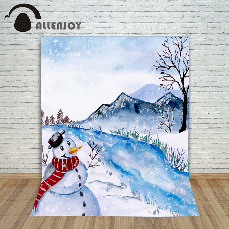 Christmas backgrounds for photography Winter landscape xmas river new year Background studio cloth year of the rooster christmas photographic background snow snow in winter new year photo vinyl cloth year of the rooster