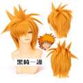 Ichigo Kurosaki Cosplay animation yellow warped cos a wig on behalf of other