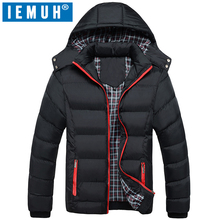 IEMUH Brand New Clothing Winter Jacket Men Casual Parka Jacket Thick Men Hooded Warm Men's Coats and Jackets Fashion overcoats