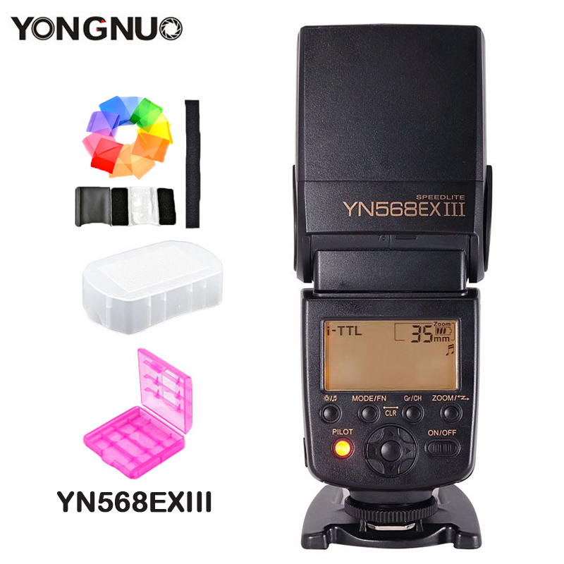 YONGNUO Flash Speedlite YN568EX III Wireless Master  TTL HSS 1/8000 for Nikon D800 D750 D7100 D5100 for Canon 1100D 650D 600D 2x yongnuo yn600ex rt yn e3 rt master flash speedlite for canon rt radio trigger system st e3 rt 600ex rt 5d3 7d 6d 70d 60d 5d