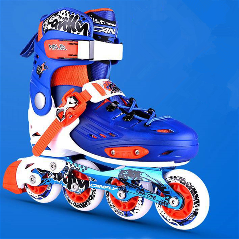 New Arrival Inline Skates For Kids Children Outdoor Skating Sports Activities Patines, Size Changeable Adjustable S M L
