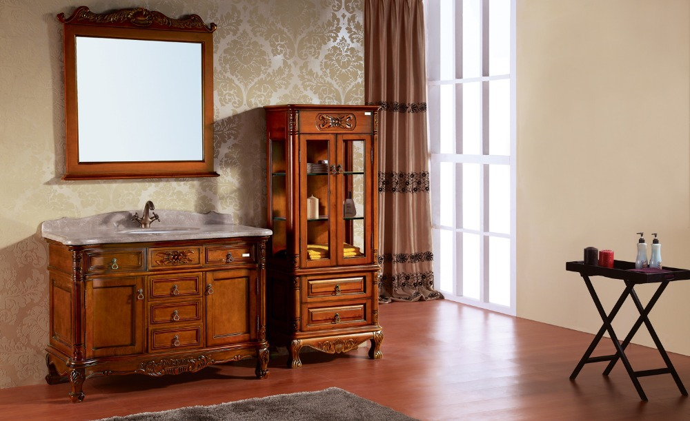Solid Wood Bathroom Cabinet With High Quality 0281