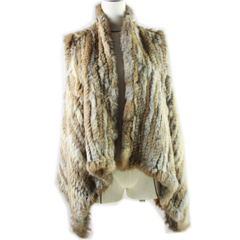 2020 Best Real Natural Fur Vest Women's Genuine Rabbit Fur Leather Jacket Overcoat Girl's Fur Vest Coat