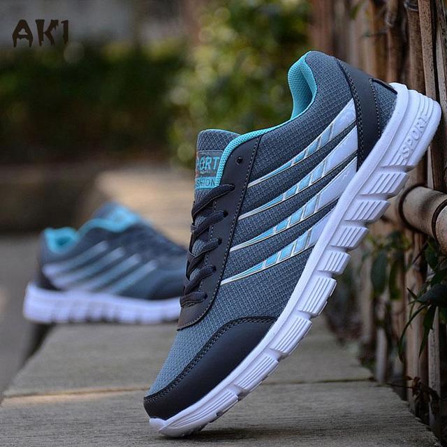 Venta caliente Nuevos Hombres de Malla Transpirable Ligero Zapatos Casuales Adultos Tenis Hombres de Jogging Zapatos deportivos Tamaño 39-44