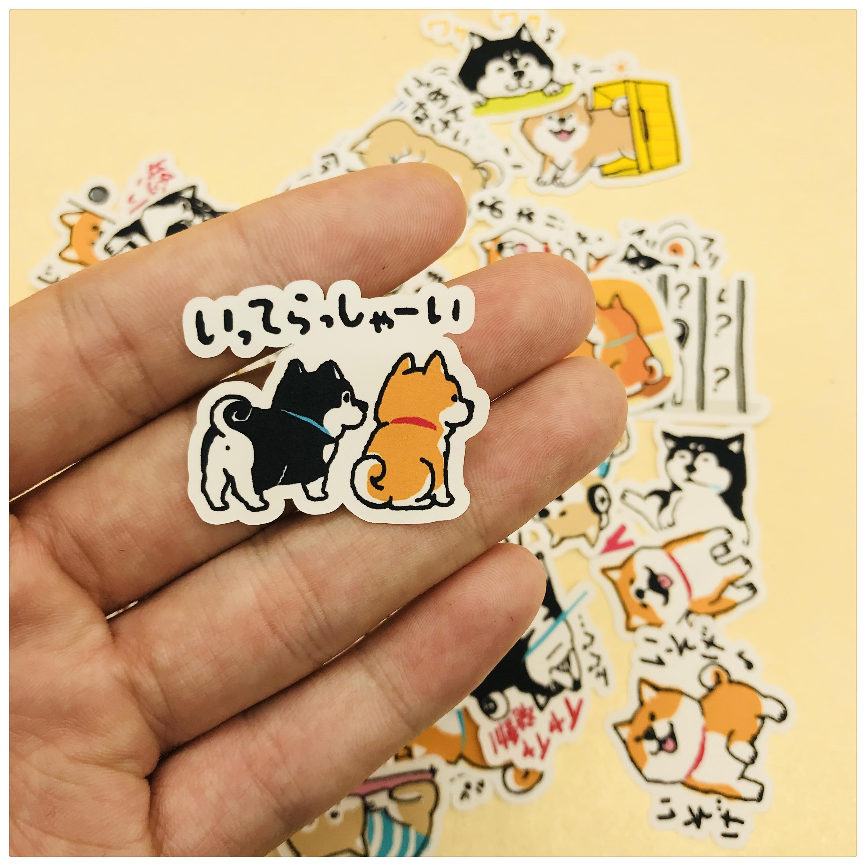 39 PCS\SET Japanese Cute Dog Husky And Shiba Inu Decoration Stationery Sticker Diy Diary Scrapbooking Label Stickers Stationery