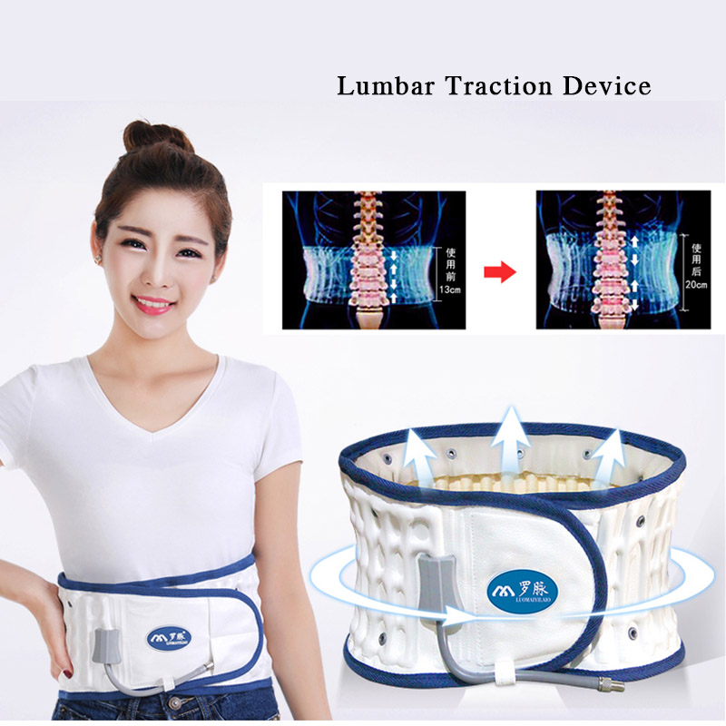 Waist Massager  Spine Pain Relief Chiropractic Spinal Air Lumbar Medical Support Traction Belt Back Massage Relax Mate Device lican rectangle white black modern led ceiling lights for living room bedroom home diy minimalism lustres de sala ceiling lamp