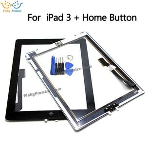 Image 2 - לוח מגע מסך עבור iPad 3 iPad3 A1416 A1430 A1403 Digitizer זכוכית פנל 9.7 inch עם לחצן בית + מתנה