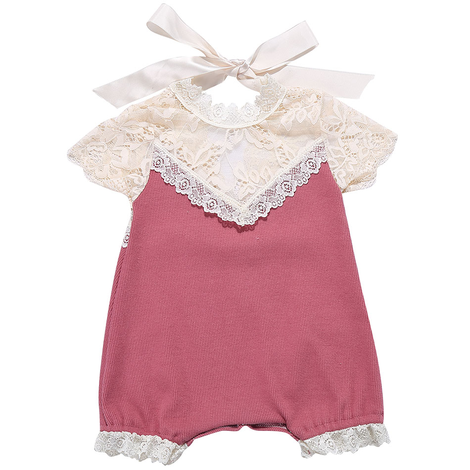 Floral Lace Baby Girl Rompers Cotton Baby Clothes Newborn Infant Girls Romper Toddler Kids Children Clothing Baby Girl Outfits