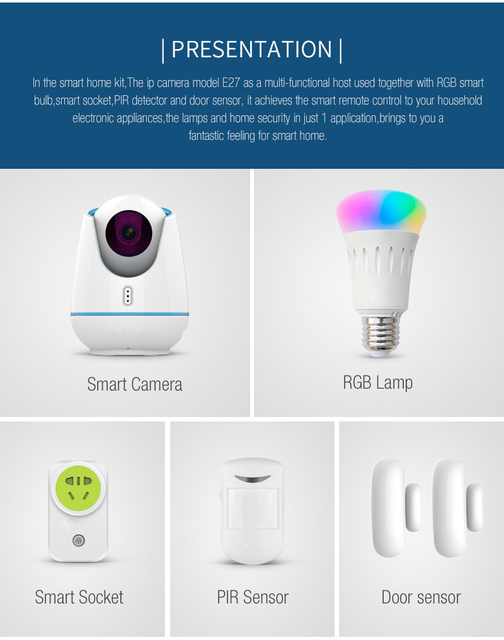 E27TZ camera KIT Smart family house Security Monitoring Private protection Intelligent Technology Intelligent house