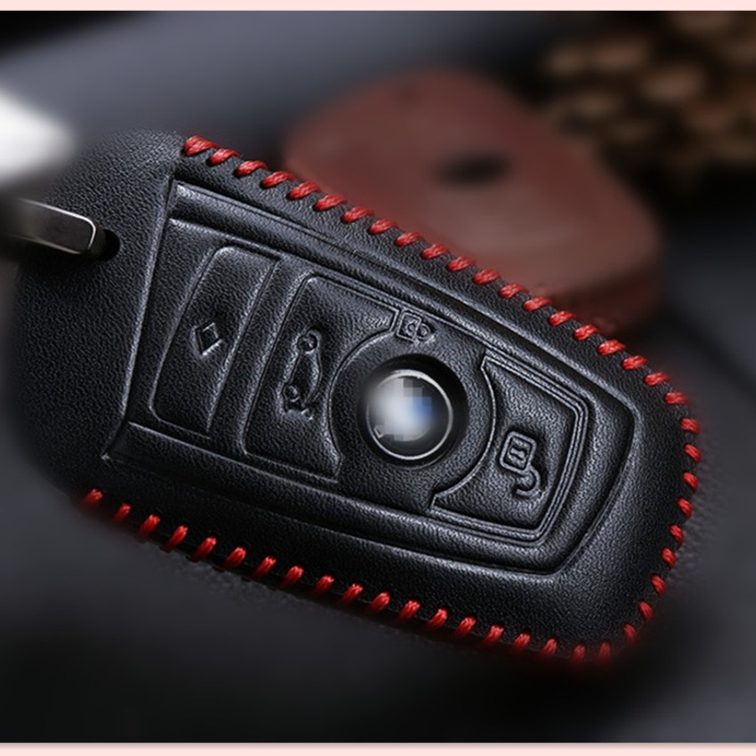 <font><b>2017</b></font> NEW CAR Genuine leather KEY BAG FOR <font><b>BMW</b></font> X1 <font><b>X3</b></font> X4 X5 X6 1 3 5 7 series F25 F26 F34 F07 F80 F82 M3 M4 F03 F04 F02 <font><b>accessories</b></font> image