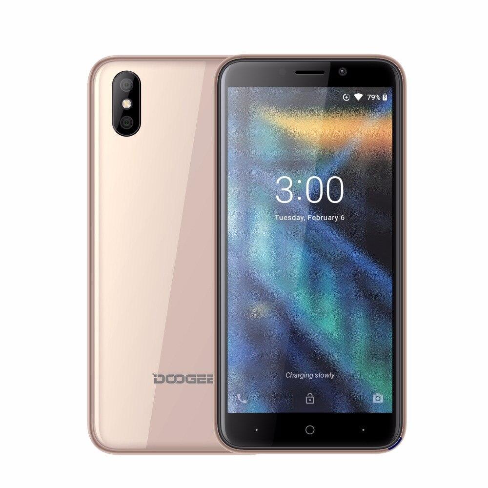 Téléphone portable DOOGEE X50 MTK6580 Quad Core 1 GB RAM 8 GB ROM Android GO 5 M + 0.3MP double caméra arrière 2000 mah WCDMA 5.0 pouces téléphone portable