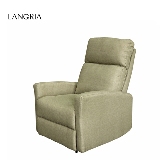 Langria Modern Linen Upholstered Recliner Armchair Sofa Chair Home Chaise Lounge With Padded Seat Backrest