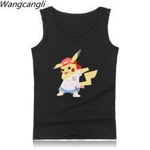 Wangchangli Funny Aminal 2017 Men/Women Pattern Pikachu Vest Fitness Cotton Men Summer Tight Slim-type Tank Top Clothes 4XL