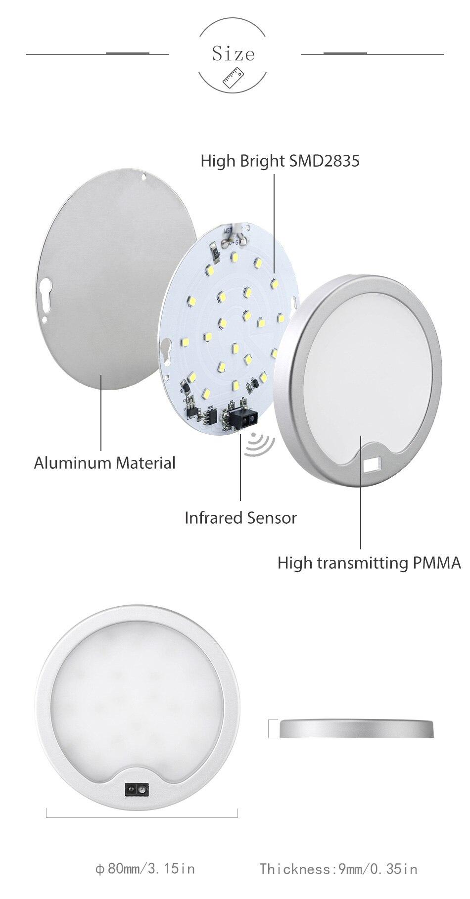 SMD2835 LED Chips PIR Sensor Lamp Kitchen Wardrobe Closet Motion Sensor 12V DC Under Cabinet Lights 3W Cabinet Night Lighting (12)