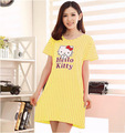 New summer short-sleeved nightgown hellokitty female cute cartoon wave dot casual and comfortable