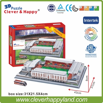 Clever&Happy 3D Puzzle stadium Model Arsenal Football FC Club Home Highbury(Arsenal) Stadium London Model Paper