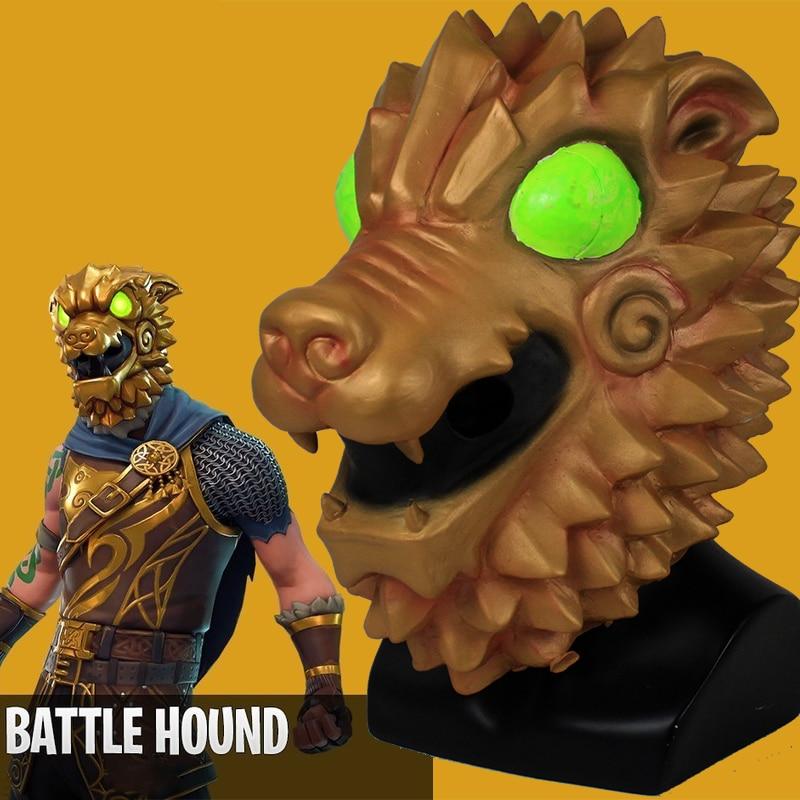 Game Battle Hound Skin Cosplay Costumes Battle Royal Mask Halloween Party Dragon Helmet Latex Masks