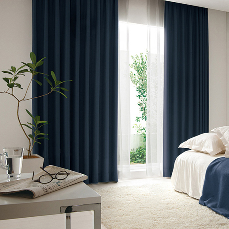Curtains Home Decor Solid Linen Blackout Modern Cortinas Para Sala Drape Rideau Flat Window