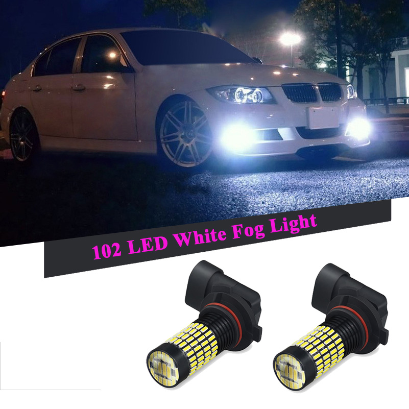 Car Fog Lights H8 H11 9006 H16 SMD 4014 LED DRL Bulb For BMW E46 E39 E36 E90 E60 F30 E30 E34 F10 E53 F20 E87 E92 E38 E70 X5 X3