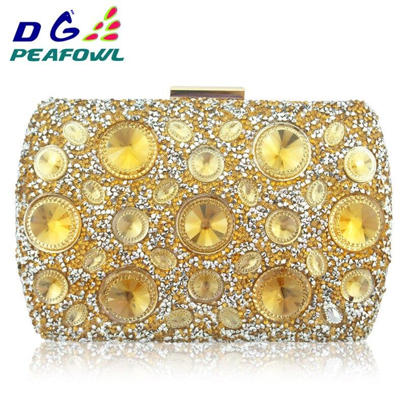 Ausdrucksvoll Haben Lager Große Goldene Kristall Handy Tasche Dame Abend Taschen Kupplung Innen Fach Tag Handtasche Schulter Pochette Taschen