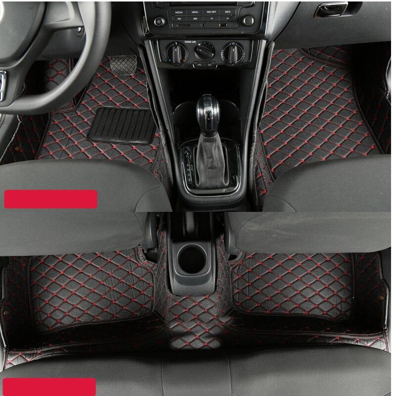 fiber leather car floor interior mat for volkswagen polo Mk4 polo mk5 2002-2017 2016 2015 2014 2013 2012 2011 2010 2009 2008 volkswagen polo сургут где