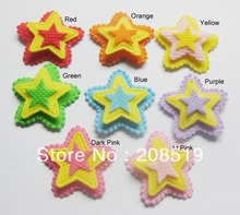 PA0003 Free shipping 8 colors 200pcs 3-layer 32mm Pentagon shape children hair ornament stick-on patches free shipping 134 2khz 125khz ti hdx 4 32mm 3 85 32mm animal glass tags iso11784 85